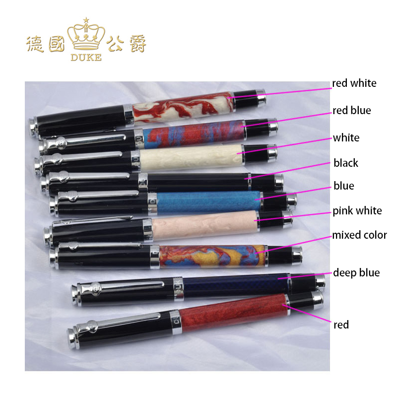 Colorful Duke Metal Roller Ball Pens Black Ink Medium Refill Writing Ballpoint Pen with An Original Box Office&school Stationery jinhao ballpoint pen and pen bag school office stationery brand roller ball pens men women business gift send a refill 016