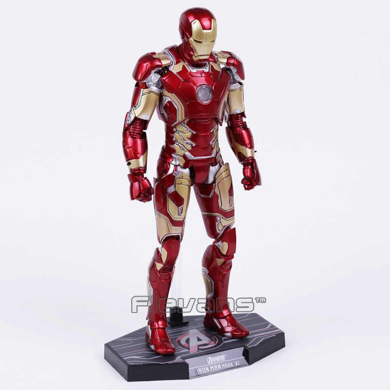 Горячие игрушки Мстители Железный человек Марка MK 43 с светодиодный свет ПВХ фигурка Коллекционная модель игрушки