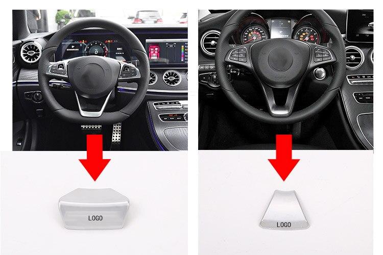ABS Chrome Car Steering Wheel Sticker Emblem Decor for AMG Logo for Mercedes Benz New C