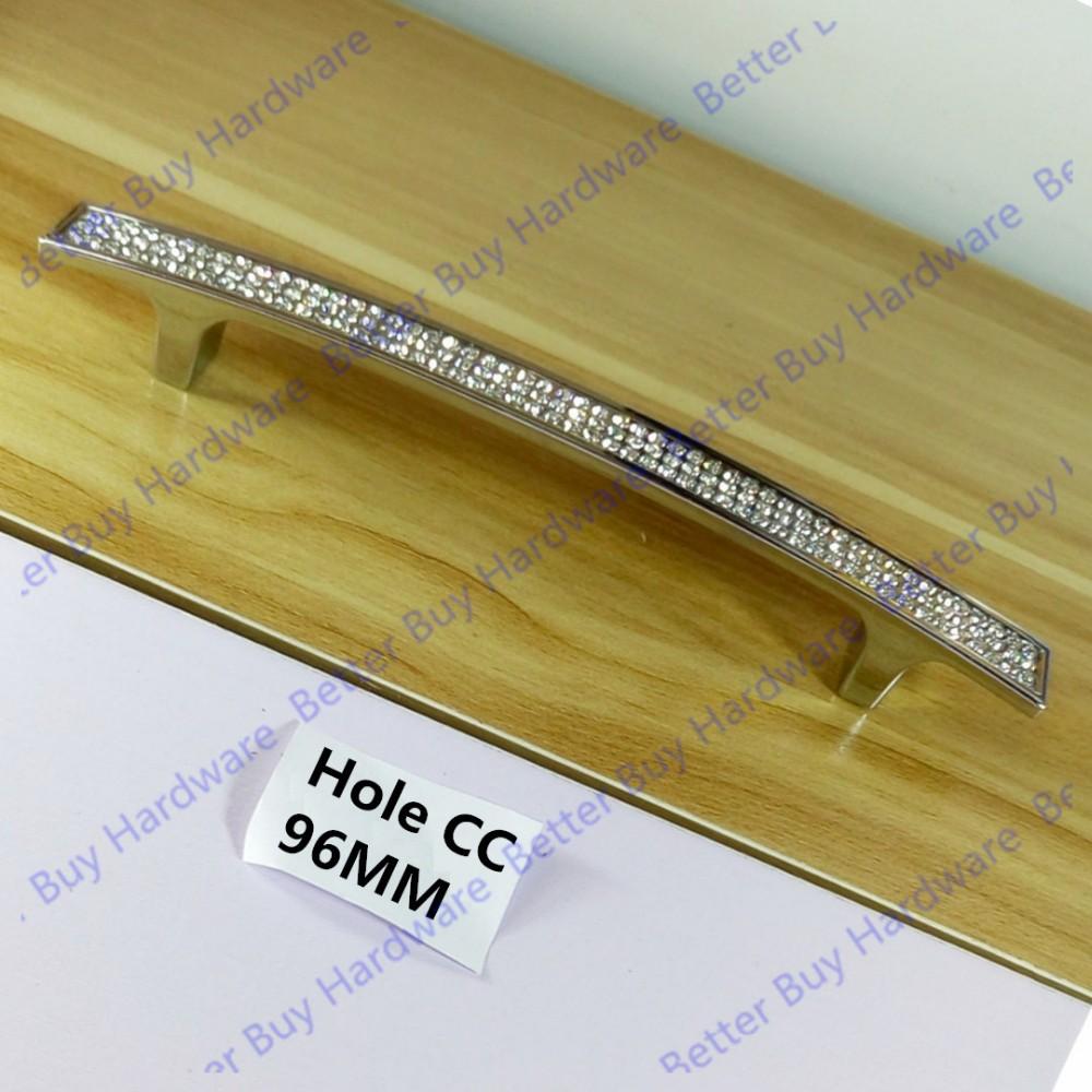 Einlochmontage/96mm/128mm/160mm Kristall Möbel Griff Kommode ...