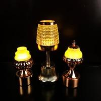 LED hotel night light usb rechargeable desk lights creative KTV disco restaurant cafe decorative bar hall table lamp