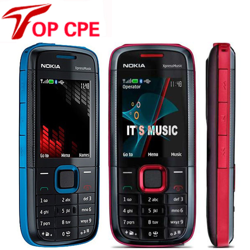Nokia 5130xm Original Xpressmusic GSM 2mp Refurbished Keyboard-Supports Cell-Phone-English-Russian title=