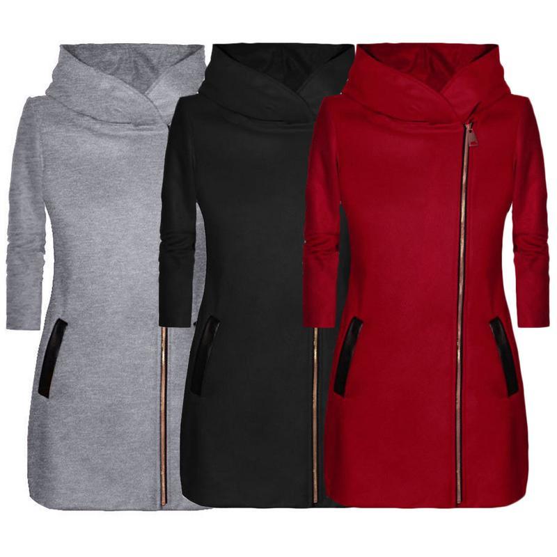 Autumn Winter Suit Blazer Women 2018 Casual Formal Wool Coat Elegant Work Office Lady Long Sleeve Blazer Mujer Outerwear