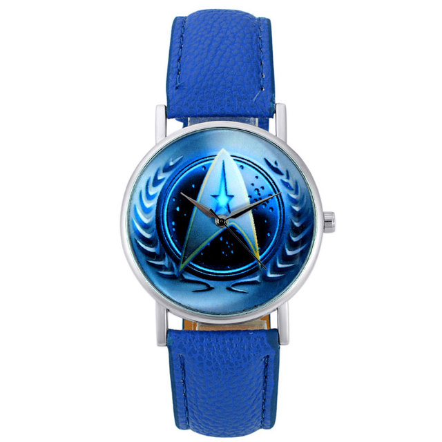 2018 New Fashion Unisex Star Trek Quartz Wrist Watch Leather Bracelet Watch