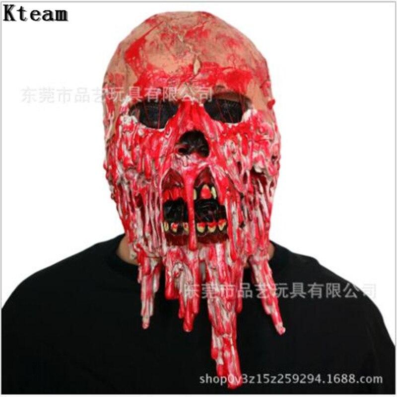 Nouveau Halloween biochimique diable masque couvre-chef Terrible fête Cosplay robe hantée maison horreur monstre alien zombie masques accessoires