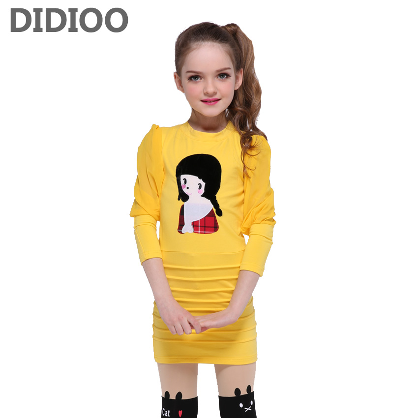 Kids Dresses for Girls Summer Cute Dresses Teenage Cartoon Dress for Girls Party Vestidos Children Princess Fashion Sheath Dress