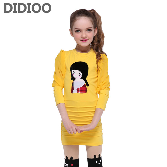 ac156f089c34 Kids Dresses for Girls Summer Cute Dresses Teenage Cartoon Dress for Girls  Party Vestidos Children Princess