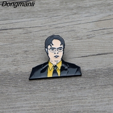 L3260 The office TV show Dwight Schrute Metal Enamel Pin for Backpack/Bag/Jeans Clothes Badge Lapel Pin Brooch Jewelry 1pcs l3401 yin yang wolf viking rune metal enamel pin for backpack bag jeans clothes badge lapel pin brooch jewelry 1pcs