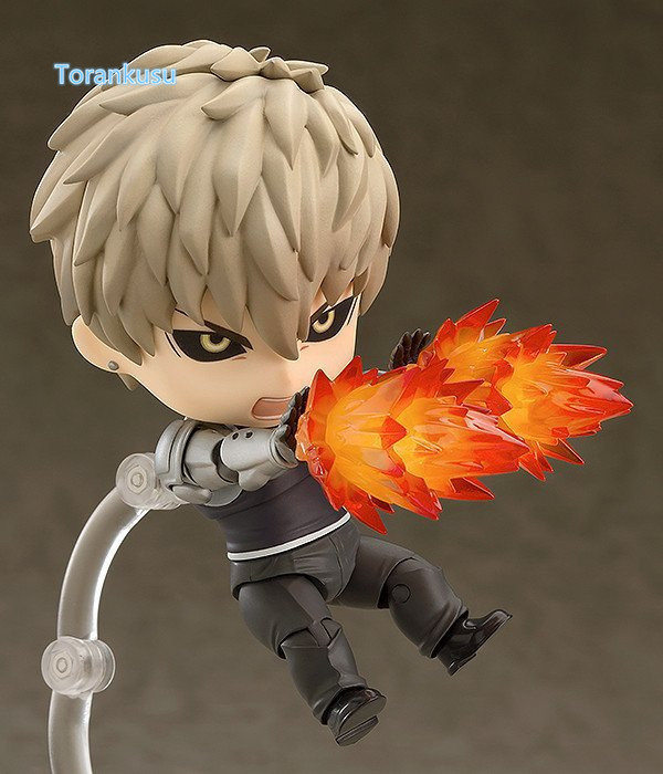 ONE PUNCH MAN Action Figure Nendoroid Genos PVC Figure Nendoroid 645# ONE PUNCH-MAN Saitama Sensei Genos Model Toys 3pcs lot cute one punch man figure saitama sensei figure keyring keychain kids toys model doll toy gift