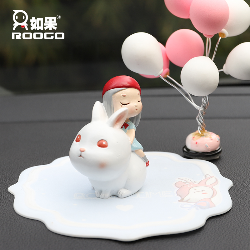Roogo Home Decoration Accessories Modern Kids Birthday Party Decorations Resin Crafts Figurines Lovely Creative Car Decor