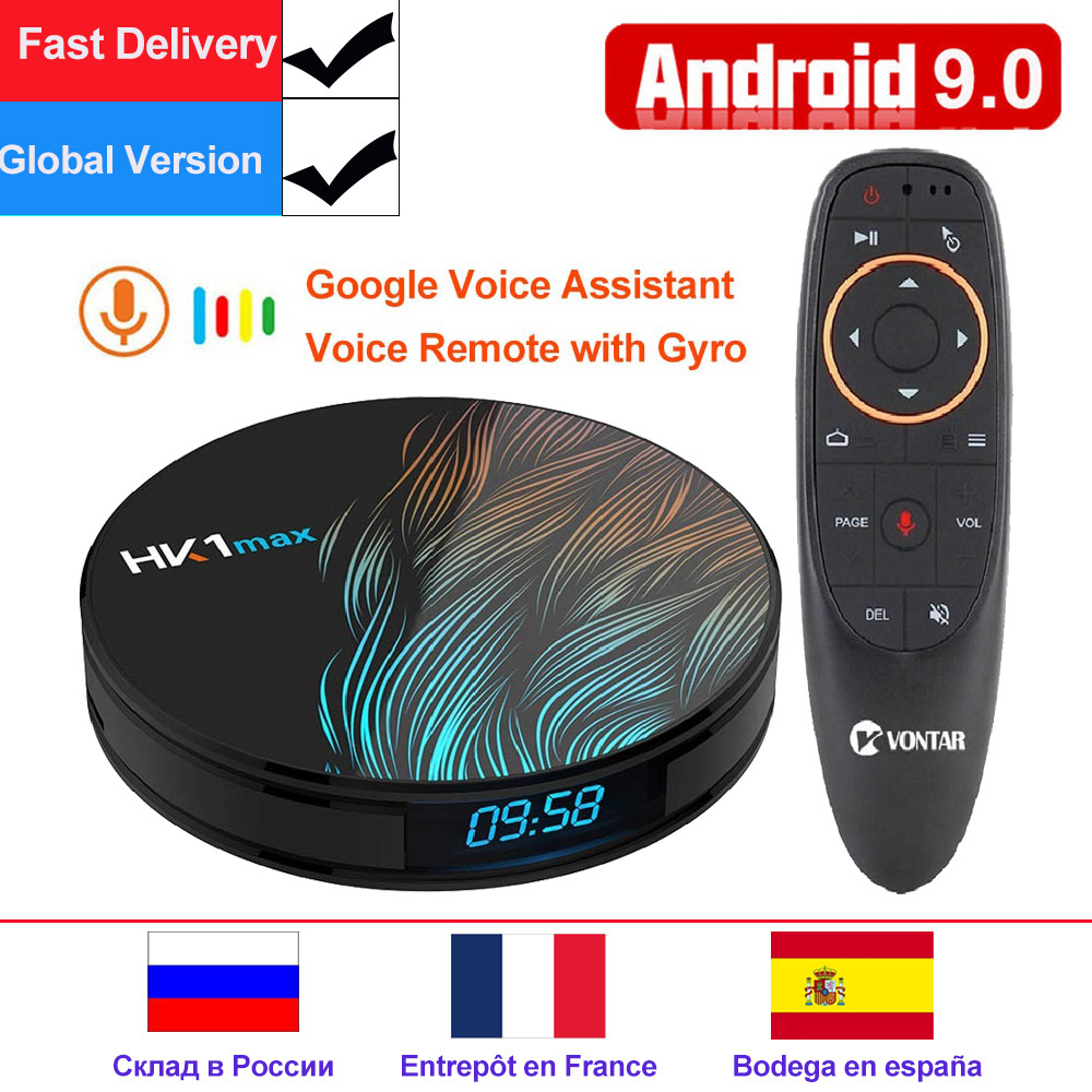 VONTAR HK1 Max Android 9.0 TV Box 4GB 64GB Rockchip RK3328 1080P H.265 4K 60fps BT4.0