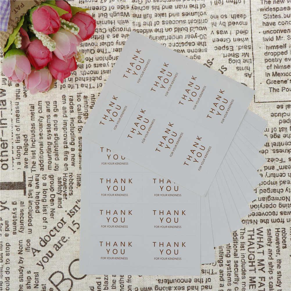 12 ชิ้น/ล็อต Black & White สี่เหลี่ยมผืนผ้า Handmade ขอบคุณสำหรับ Kindness bake สติกเกอร์สำหรับ PARTY Favor ของขวัญกระเป๋ากล่องลูกอม