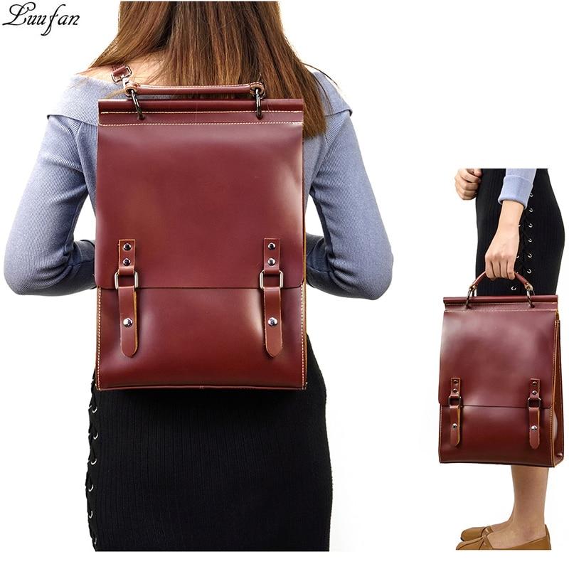 Fashion women backpacks casual genuine leather backpack for teenage girls school book bag daypack Laptop Shoulder