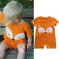 Crianças recém-nascidas Do Bebê Infantil Da Menina do Menino Roupas de Verão Fresco Bonito Minions Fox Romper Playsuit Macacão Outfits Roupas