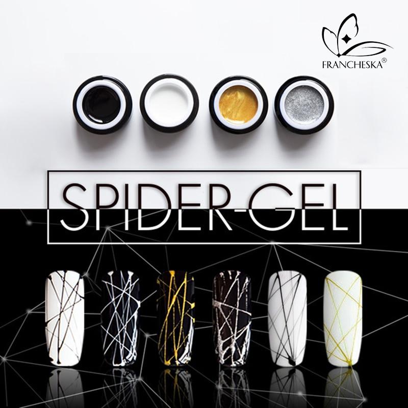 8ml spinne nail art gel DIY Malerei Tränken weg von 3D Relief UV zeichnung gel polish linie seide punkt kreative ziehen draht spinne gel