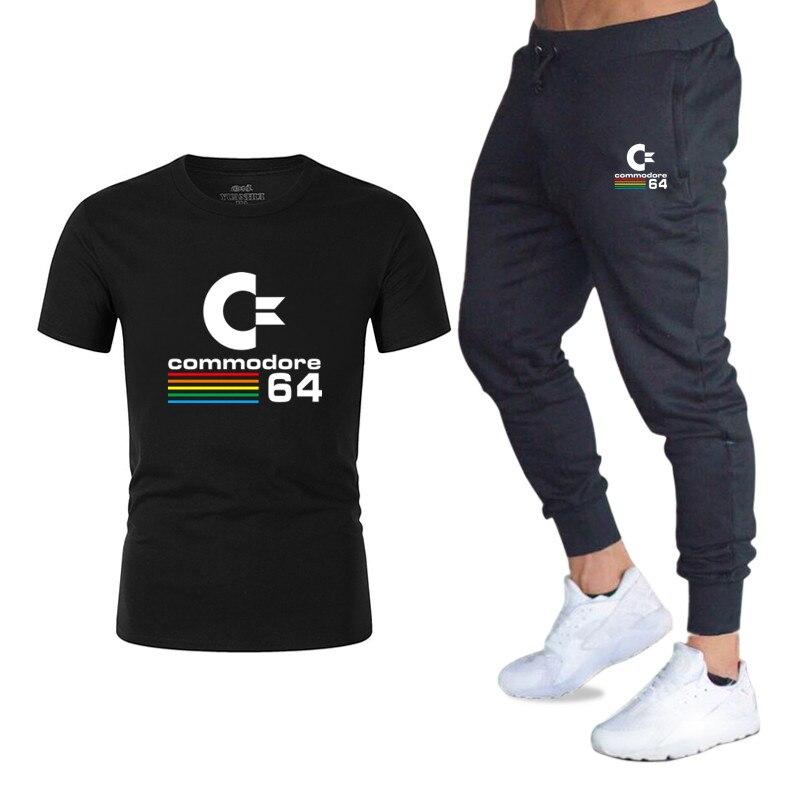 Erfinderisch Neue Sport Anzug T-shirt Hose Fitness Männer Casual Sommer Bequemen Sweatshirt Jogginghose Männer C64 Lässige Sportswear