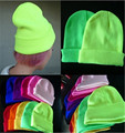 5 pcs 2016 fashion couples unisex fluorescence color knitted hats men & women's winter warm caps beanie GD hip-hop hat headwear