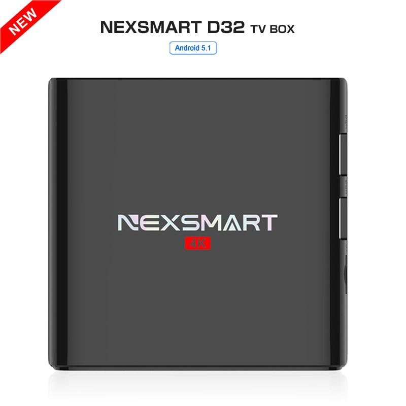 Prix pour Meilleur NEXSMART D32 RK3299 Quad-core A7 android 5.1 tv box 1G/8G 2.4G WIFI HDMI 2.0 4 K h.265 Media Player soutien DLNA miracast