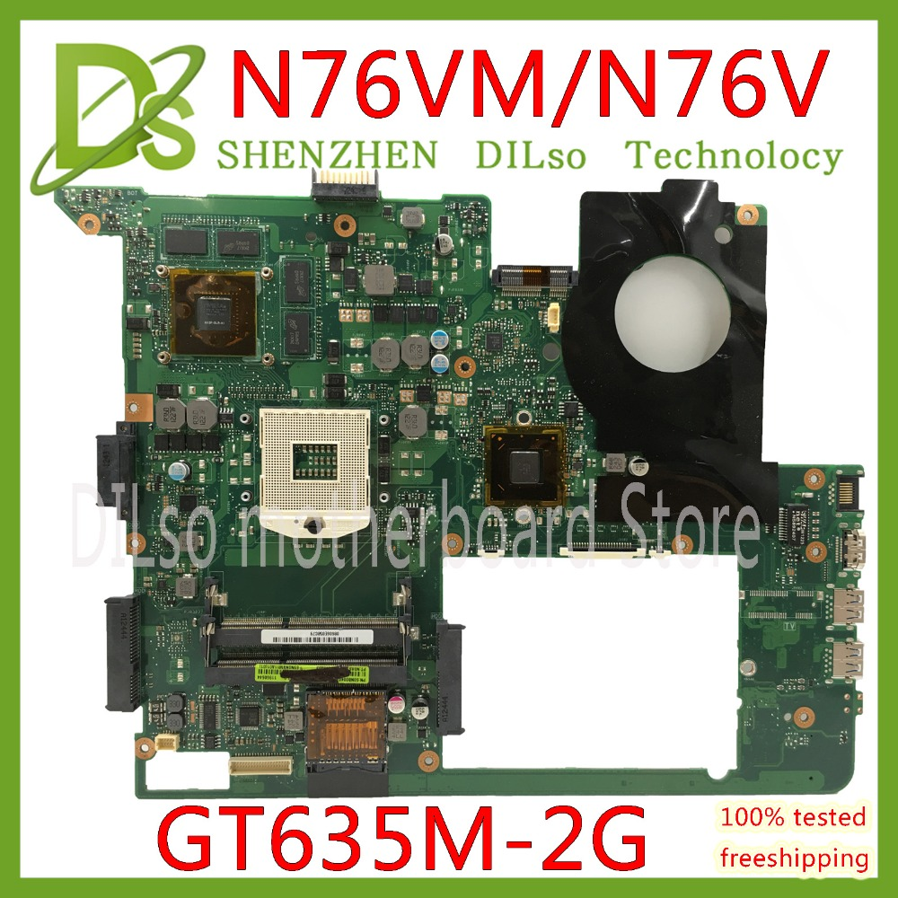 KEFU N76VM motherboard for Asus N76V N76VM N76 N76VZ N76VJ Laptop motherboard GT635M 2GB Video memory 100% test original kefu for asus n76vj n76vz laptop motherboard n76v mainboard rev 2 2 gt635 non integrated 100