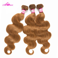 Ali Coco Brazilian Body Wave Hair Bundles And Deal #27 Color 100% Humn Hair Weave 3/4 Bundles 12 26 Inch Remy Hair Extension