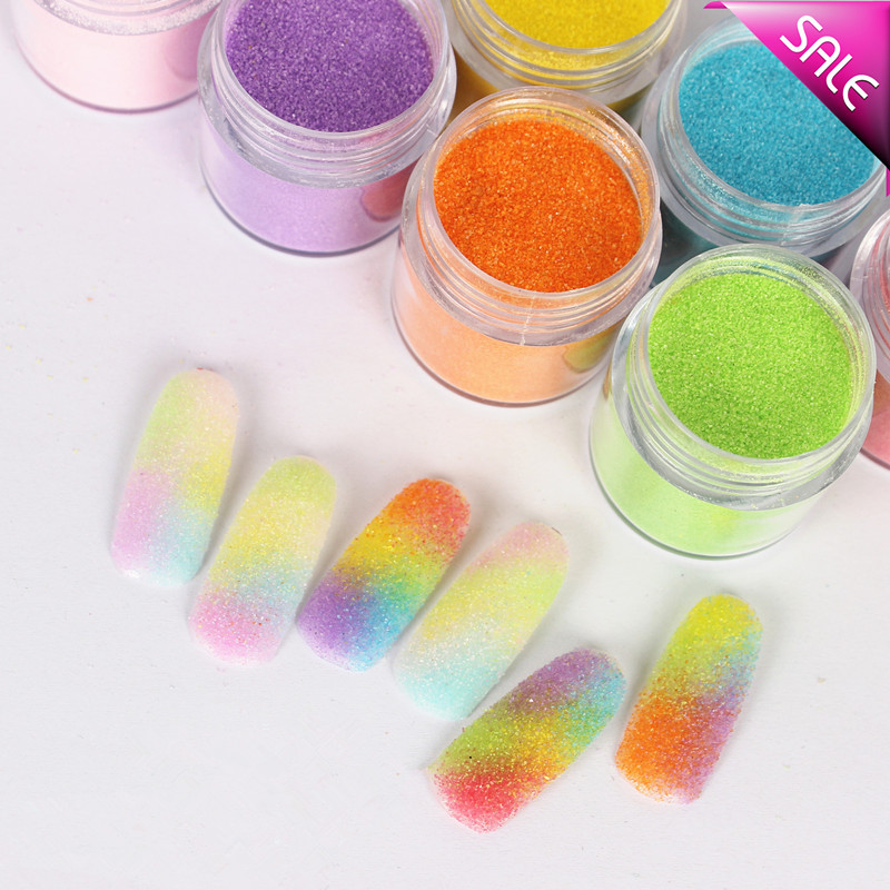 300colors Sugar Glitter Powder Dazzling Nail Glitter Nail Art Dust
