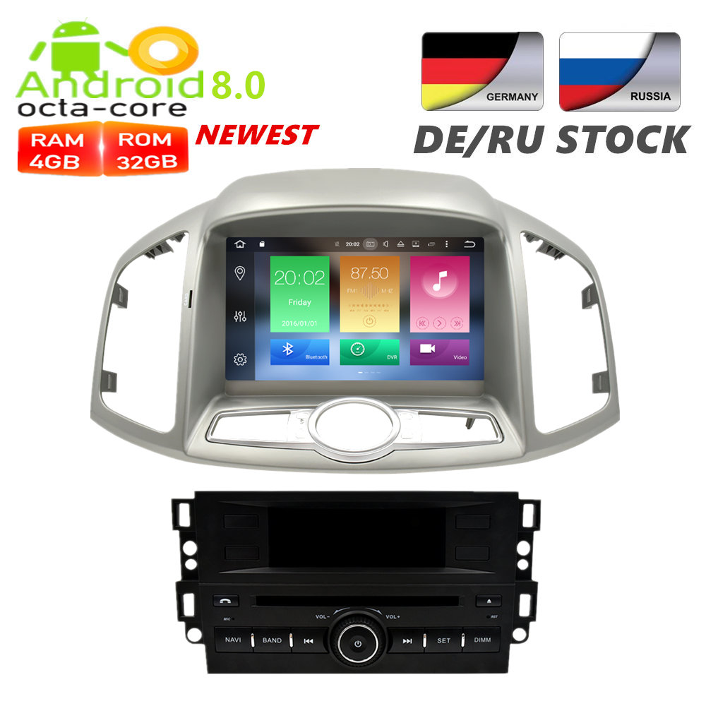все цены на Android7.1/8.0 Car Radio DVD GPS Navigation Multimedia Player For Chevrolet Captiva Epica 2012 2013 2014 2015 Auto Audio Stereo онлайн