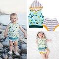 2Pcs Newborn Infant Baby Boy Girl Sweatshirt+Short Pants Outfits Clothes Set