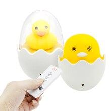 Настенная лампа в розетку светодиодный ночник AC 110 V 220 V ЕС разъём ПДУ желтая утка лампа для спальни подарок для детей милый