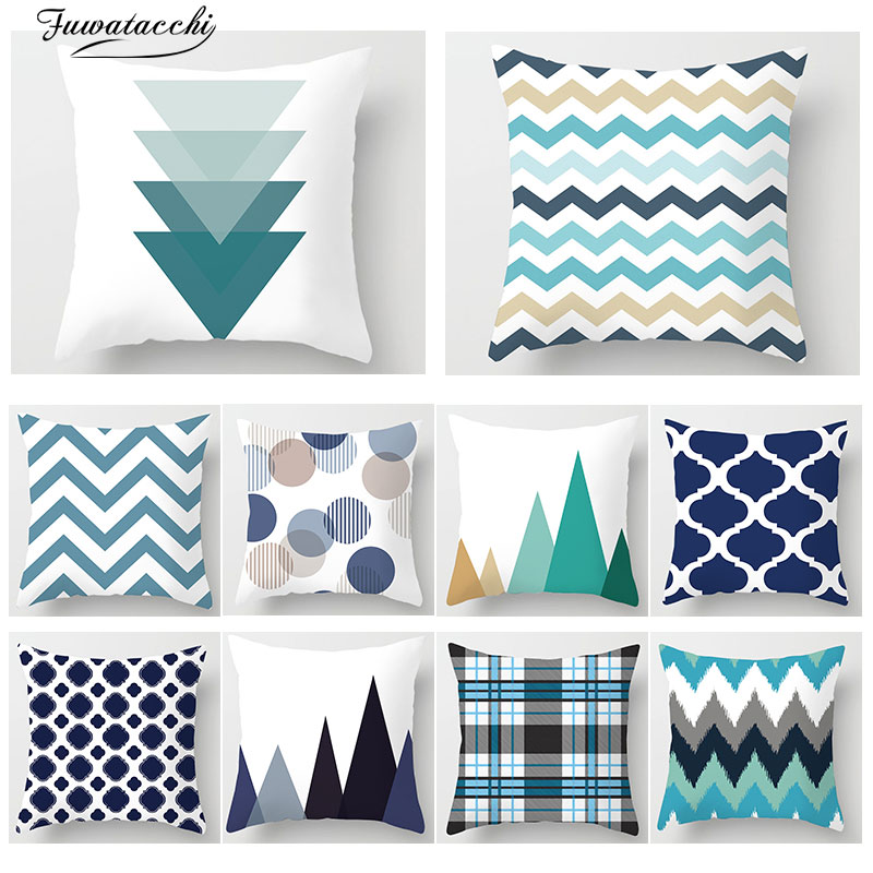 Fuwatacchi  Nordic Style Geometric Print Throw pillows Cover Mountain Arrows Sofa Home Decor Accessories Pillow Case