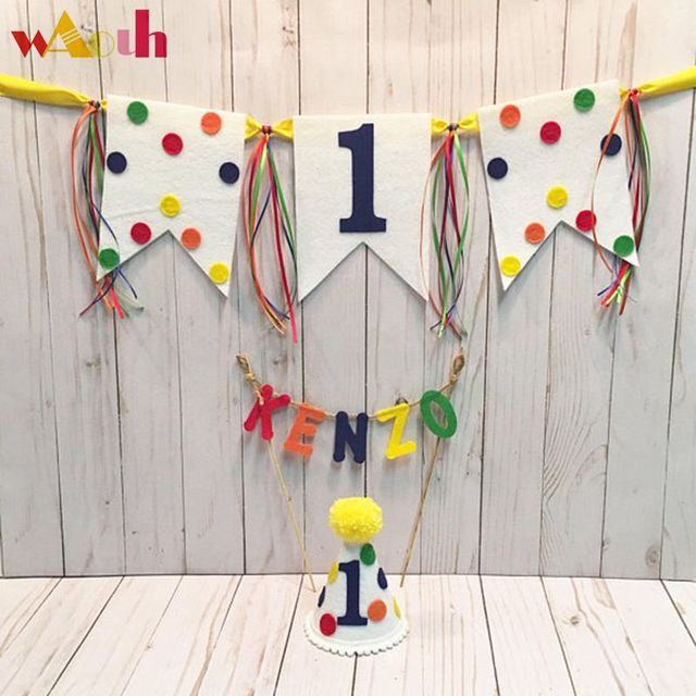 2018 news first birthday hat banner cake topper boys 1st birthday