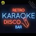 Ретро диско караоке бар Неоновый свет знак пивной бар неоновая вывеска Pub знак стеклянная трубка ручной работы магазин бизнес дисплей лампа...