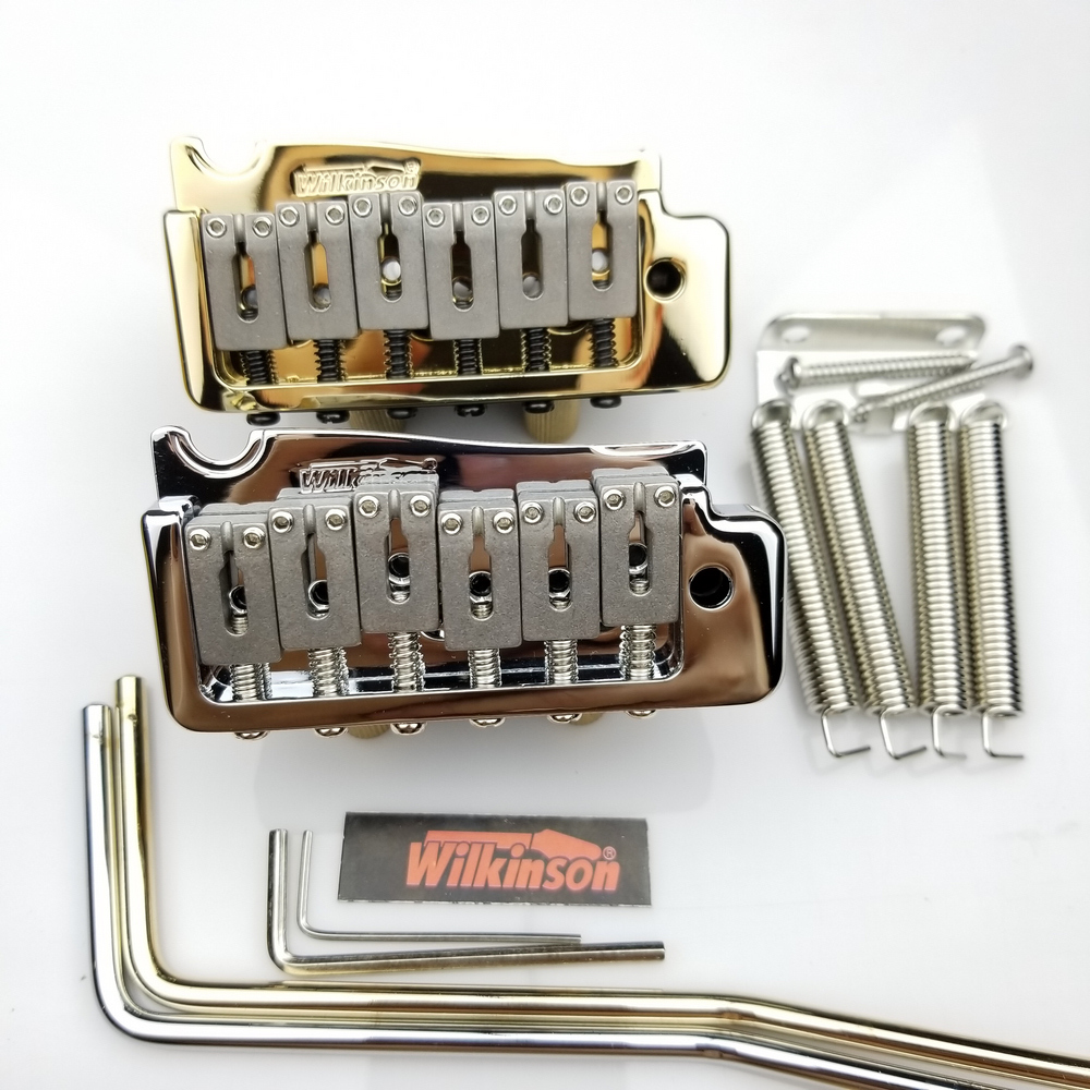 Guitar Parts WILKINSON WVP Electric guitar Tremolo System Bridge 2 Point Steel Saddle Tremolo System Chrome Silver Gold
