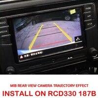 Câmera de alta linha mib para rcd330 dis pro rádio vw golf 5/6/7 jetta mk5 mk6 tiguan passat b6 b7 octavia camera for vw passat b7 cameravw passat b7 camera -