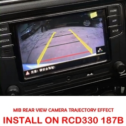 MIB caméra haute ligne pour RCD330 DIS PRO RADIO VW Golf 5/6/7 JETTA Mk5 MK6 TIGUAN Passat B6 B7 Octavia