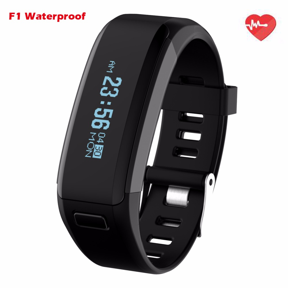 NO 1 Smartband F1 Waterproof Silicone Material Wristbands Sports Intelligent Bracelet With Mobile Phone Calls Heart