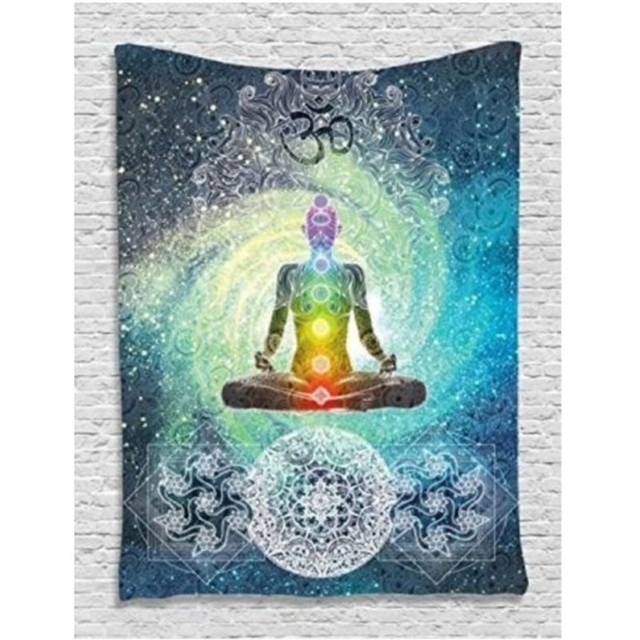 New Polyester Indian Mandala Wall Hanging Tapestry 200X130cm Bohemian Bedspread Throw Blanket Dorm Yoga Mat Home Room Decoration