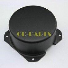 Genérico 1 UNID 80*40 Ronda tapa Del Transformador puede caja De Hierro Negro FR Vendimia Tubo Amplificador DIY