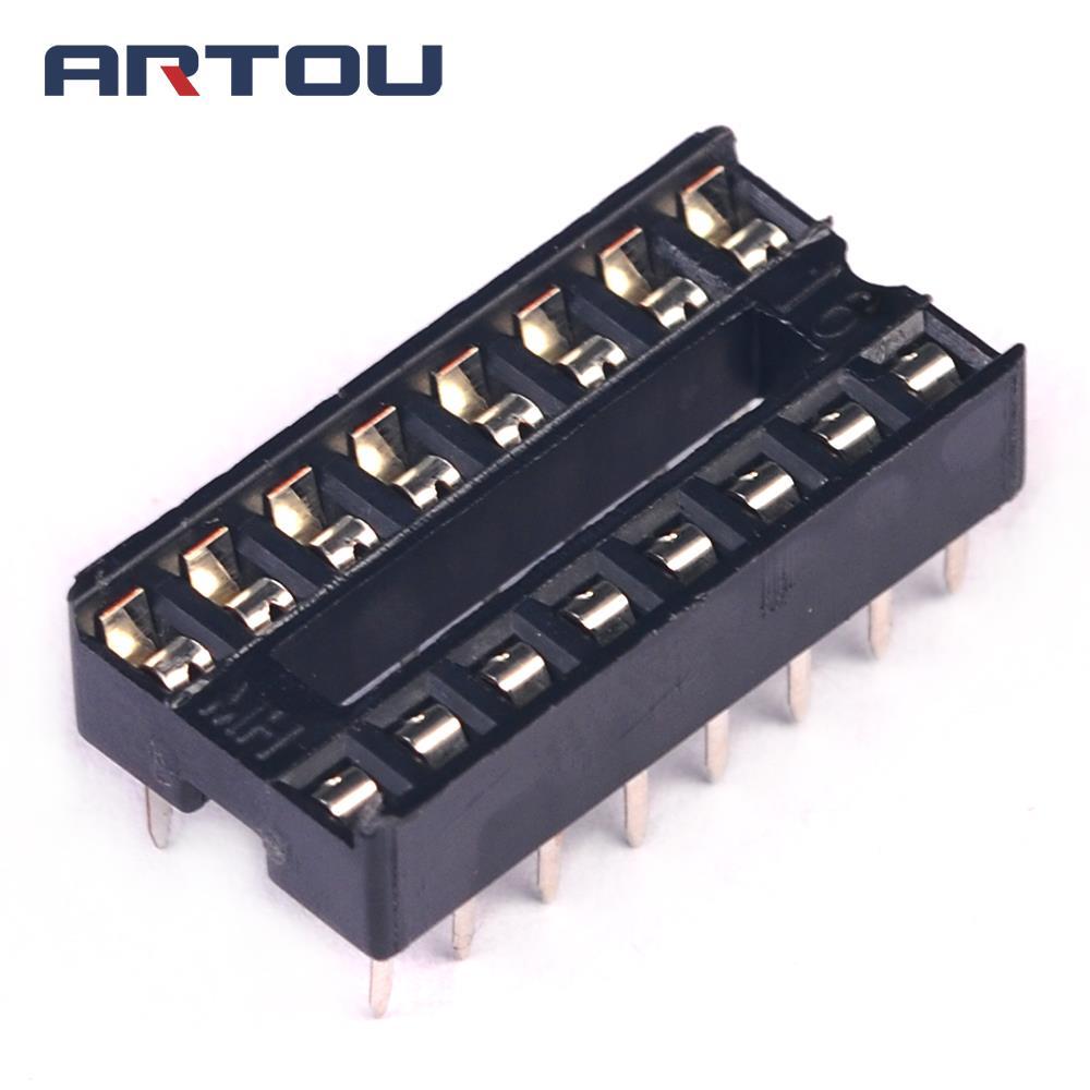 50PCS IC Integrated Circuit 16 Pin DIP IC Sockets