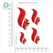 New Arrvial 2017 Fashional Animal Tattoo Designs Body Temporary Fake Tatoo Sticker Taty Latest Cat,kangaroo,peacock,fox Tattoo 2016 unique european style taty tattoo glitter body art golden temporary tattoo metallic tongue flower bracelet tatoo designs