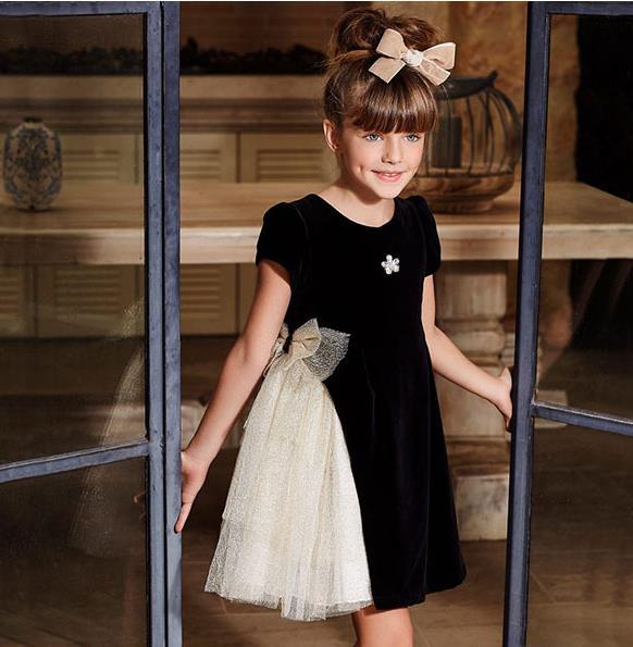 Robe de soirée magnifique fille été maille couture robe de mode