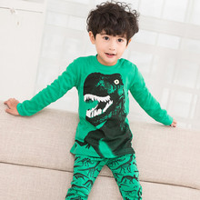 2019 New Baby Long Sleeve Pajamas Cotton Cartoon Children Pyjamas Clothing Sets Kids Clothes Suits Baby Boys Sleepwear children clothing sets baby kids boy hoodie pure cotton long sleeve streetwear style clothing printing suits boys sweater black