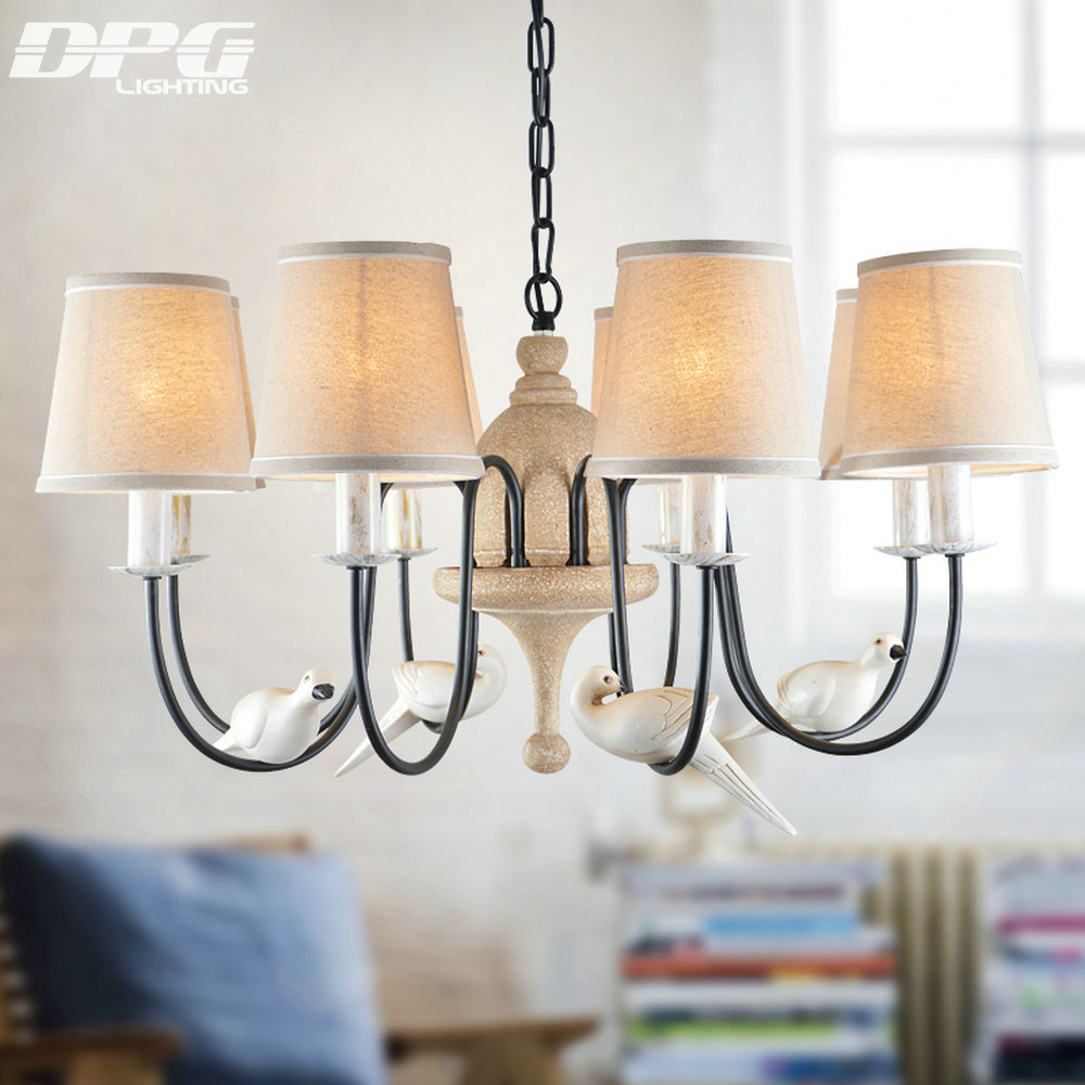 Aliexpress buy modern iron white bird chandelier home lighting aliexpress buy modern iron white bird chandelier home lighting with chandelier lampshade china for bedroom living room lamp light from reliable white arubaitofo Images