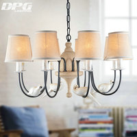 Modern Iron White bird chandelier home lighting with chandelier lampshade China for bedroom living room lamp light