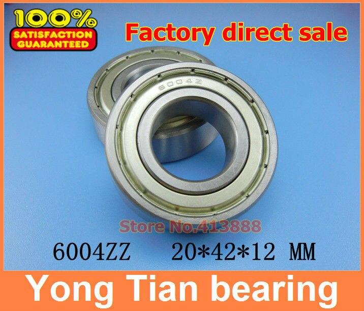Высокое качество глубокий шаровой подшипник 6004 Z 6004ZZ 6004Z 6004-2Z 80104 20*42*12 мм 10 шт./лот Качество