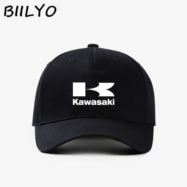 2018 Men Women kawasaki Baseball Cap Hat Sport Ninja Motorsport Racing  Cotton Cap 3eebfd75e5eb