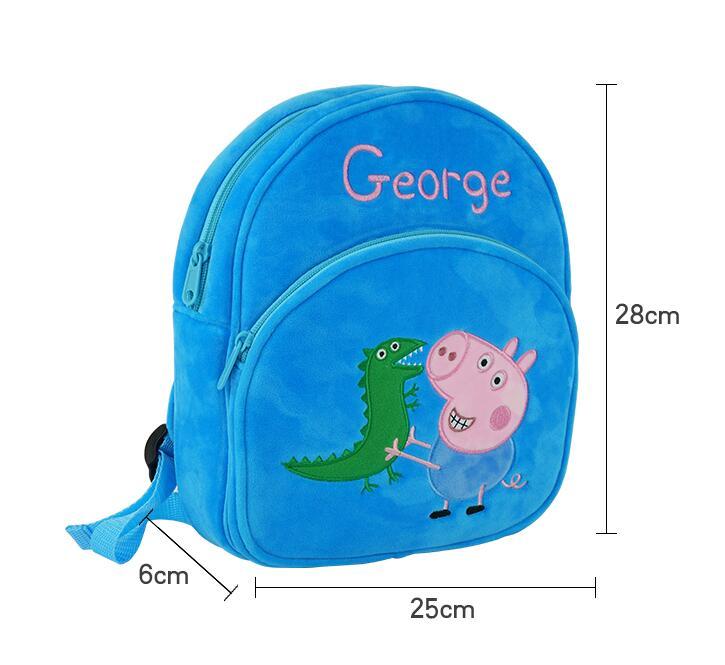 New Arrival Genuine PEPPA PIG peppa George plush backpack high quality Soft Stuffed cartoon bag Doll For Children kids toy  3