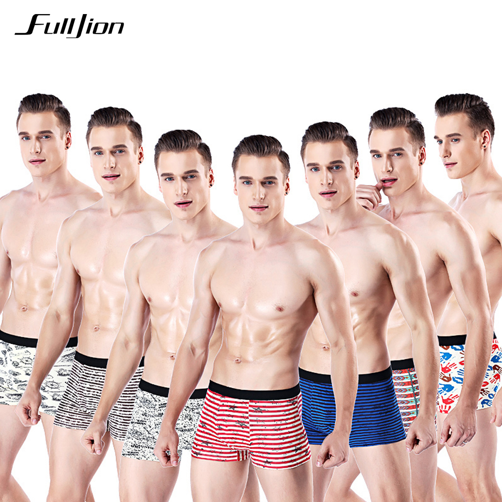 Fulljion Men Boxer Shorts Mens Underwear Home Boxer Cotton Boxer Men Printed Boxer Shorts Cuecas Soft Breathable Mens Underpant