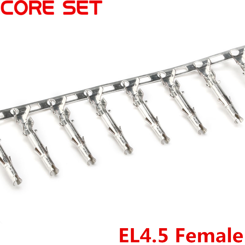 100Pcs/lot Small Tamiya <font><b>Connector</b></font> EL4.5 Pitch <font><b>4.5mm</b></font> Female Crimps Terminal Mini Tamiya Wire Cable Housing Femal Pin High Quality image