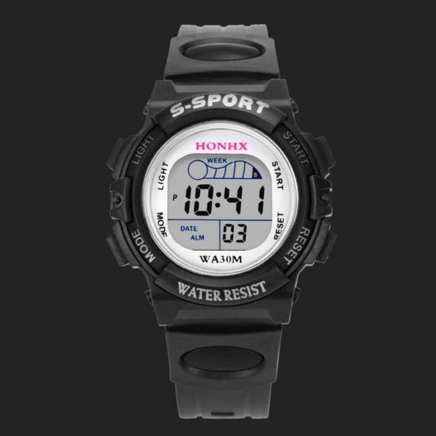 Digitale Uhren Freundschaftlich 2018 Mode Uhr Wasserdicht Kinder Kinder Junge Uhren Digital Led Quartz Alarm Date Sport Elektronische Quarz Armbanduhr