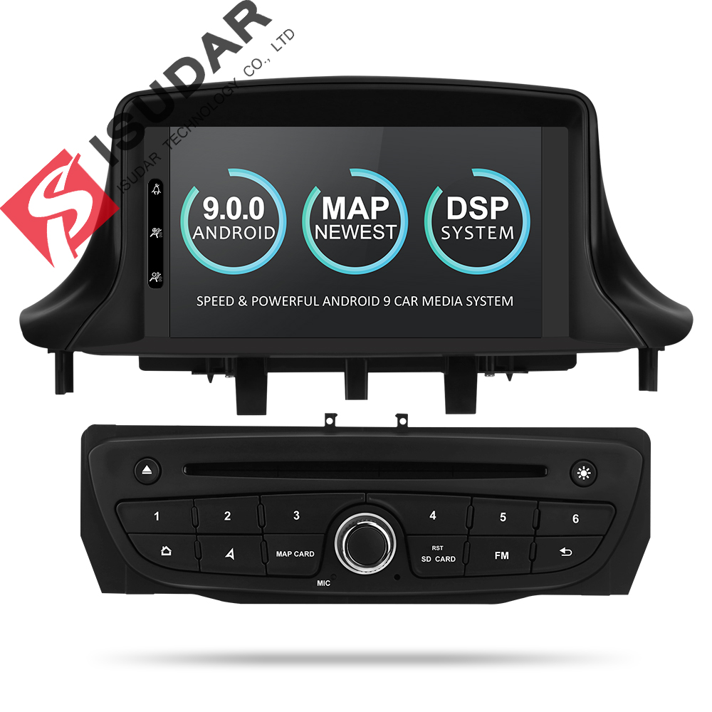 Isudar Car Multimedia player Two Din Android 9 Automotivo DVD Player For Renault/Megane 3 Fluence Radio FM GSP 4 Core RAM 2G DSPIsudar Car Multimedia player Two Din Android 9 Automotivo DVD Player For Renault/Megane 3 Fluence Radio FM GSP 4 Core RAM 2G DSP